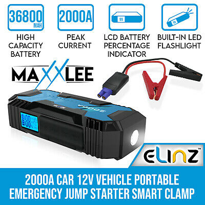 AU149.95 • Buy Maxxlee 2000A Car 12V Vehicle Portable Emergency Jump Starter Battery Charger