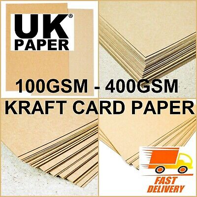 £1.59 • Buy A3 A4 A5 Brown Kraft Card Making Stock Blanks Paper Craft Lot Box Place Gift Tag