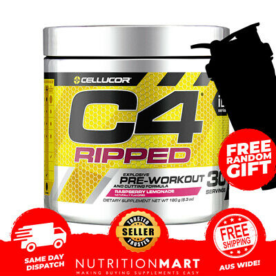 AU49.90 • Buy Cellucor C4 Ripped Pre Workout Cutting Formula 30 Serves