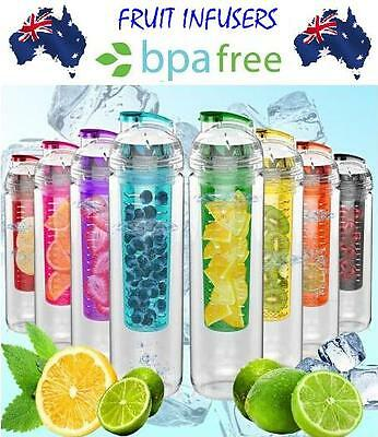 AU13.90 • Buy 800 Ml Fruit Infuser Water Bottle BPA Free Sport Outdoor Juice Infusing Infusion