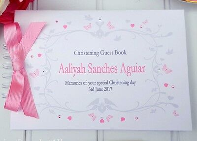 £13.99 • Buy Personalised Christening/ Naming Day /guest Book/ Message Book /scrapbook Album