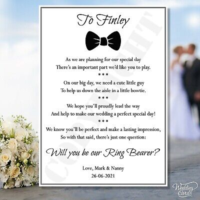 £1.95 • Buy Will You Be Our Page Boy Ring Bearer Wedding Sweet Nephew Brother My Invite Card