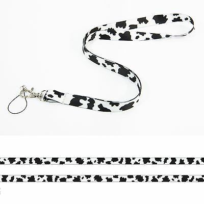 £1.97 • Buy CUTE COW SPOTS Satin Lanyard Neck Strap Mobile Camera Badge Keyring Mp3 Holder