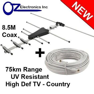 AU36 • Buy Digital TV Outdoor Antenna UHF VHF FM 4 AUSTRALIAN Conditions Country LOCATIONS