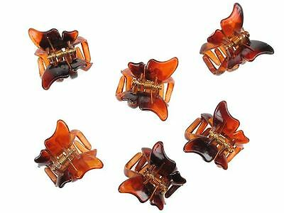 £2.34 • Buy 6 Tort Brown Mini Butterfly Hair Claw Clips Clamps Hair Accessories