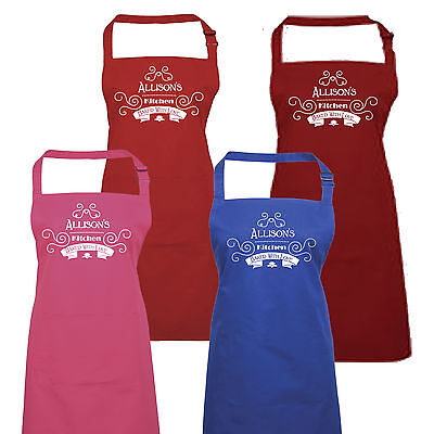 Personalised Ladies Baked With Love Apron By Inspired Creative Design • 13.99£