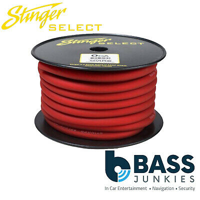 Stinger 0AWG Gauge 5 Metre Red Car Amplifier Amp Battery Poer/Ground Earth Cable • 39.99£