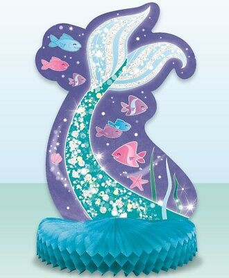 AU6.99 • Buy 1x Mermaid Tail Honeycomb Ocean Sea Birthday Party Centrepiece Table Decorations