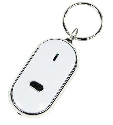 Whistle Lost Key Finder Flashing Beeping Locator Remote Chain LED Sonic Torch • 2.85£