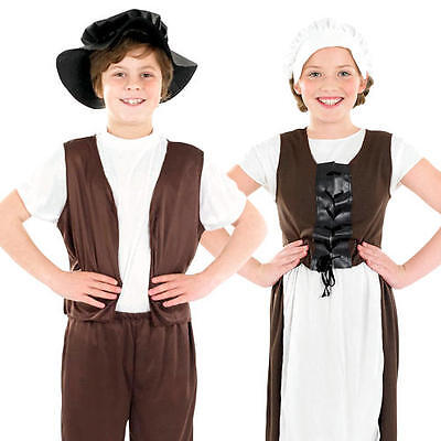 £8.99 • Buy Tudor Poor Kids Fancy Dress Childs Childrens History World Book Day Week Costume