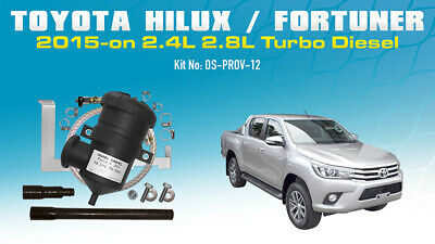 AU320 • Buy ProVent Oil Catch Can Kit For Toyota Hilux Fortuner N80 1GD-FTV 2015 2.4L 2.8L