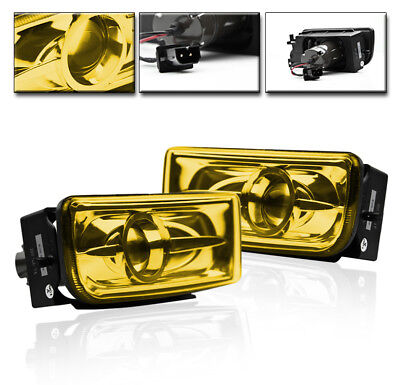 $48.95 • Buy 1992-1998 Bmw E36 3-series Front Lower Projector Fog Light Lamp Yellow Lens Pair