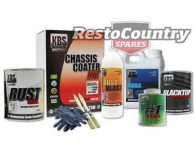 AU174.90 • Buy KBS Chassis Coater PRO Kit GLOSS BLACK Rust And Corrosion Prevention Degreaser