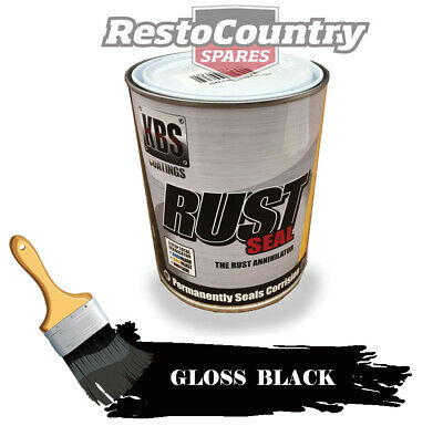 AU89 • Buy KBS RustSeal GLOSS BLACK One 1 Litre Rust Seal Paint Rust Preventive Coating