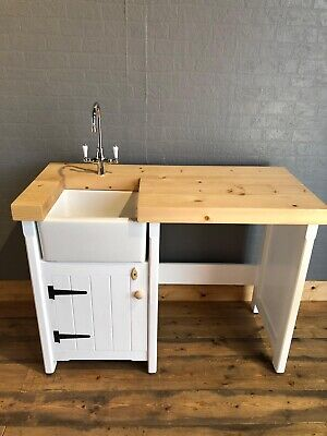 Pine Freestanding Small Belfast Butler Sink Unit Appliance Gap In Any Colour • 995£