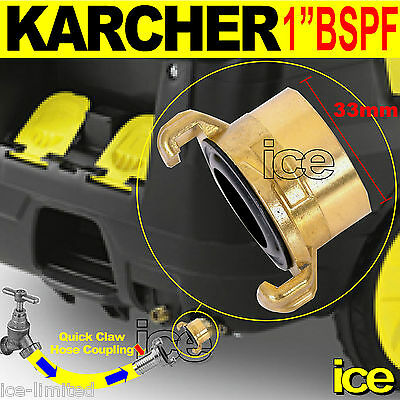 £11.99 • Buy Karcher Commercial Water Hose Pipe Inlet Quick Release Claw Coupling Connector
