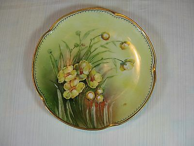 $24.99 • Buy J & C Louise Bavaria Plate Yellow Flowers Gold Trim Initialed On Front T.K.H.