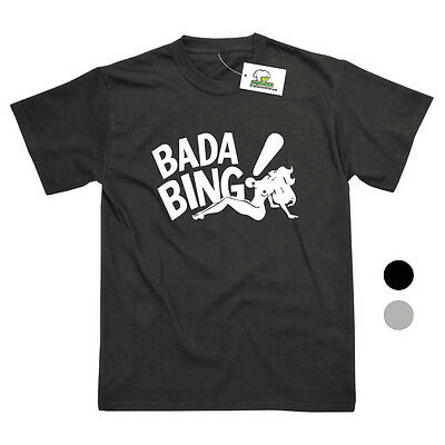 Bada Bing Strip Club Inspired By The Sopranos Printed T-Shirt - 2 Colours • 8.95£
