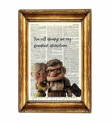Up Print Poster Picture Photo Dictionary Wall Art Disney Carl And Ellie • 5.99£