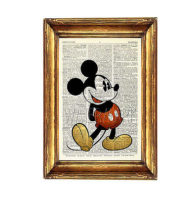 Mickey Mouse Disney Print Poster Picture Photo Dictionary Wall Art Disney  Buzz • 6.99£