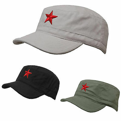 SOVIET Army Russian Red Star Hat Cap Fancy Dress Cadet MILITARY SOLDIER • 7.99£
