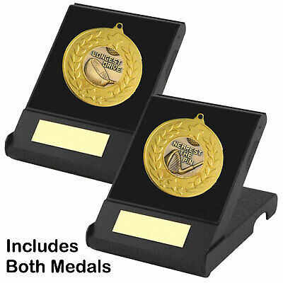 £8.50 • Buy Longest Drive &  Nearest The Pin Medals In Presentation Boxes, Golf Trophy Award
