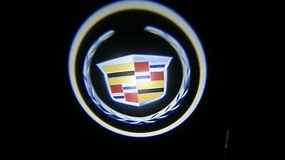 Cadillac Logo Ghost Puddle Led Door Lights For 7watts X2 Cree 17 50