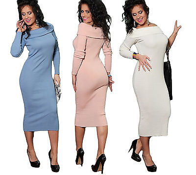 Women Stylish Tight Slim Dress Spring Sexy Long Sleeved Bandage Ladies Body Con  • 5.99£