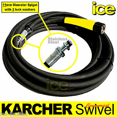 15m KARCHER COMMERCIAL PROFESSIONAL PRESSURE WASHER STEAM CLEANER SWIVEL HOSE 2W • 89.99£