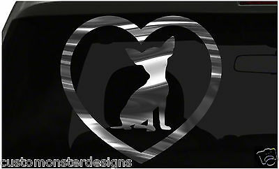 £2.80 • Buy Chihuahua Heart Sticker Dog Puppy Love All Chrome And Regular Vinyl Colors