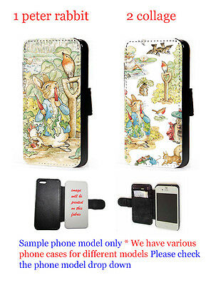 Peter Rabbit Inspired Phone Case Flip Faux Leather Wallet For Iphone Xperia HTC • 11.20£