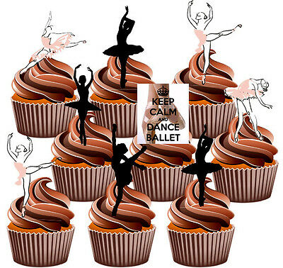 Ballet Dancers Party Pack, Cake Decorations 36 Edible Stand-up Cupcake Toppers  • 5.25£