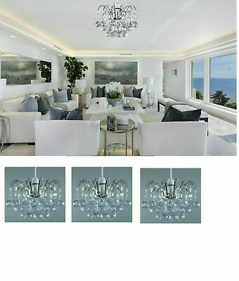 Chandelier Style Ceiling Pendant Light Shade Acrylic Crystal Ball Droplet Bead • 14.35£