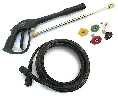 SPRAY GUN, LANCE, HOSE & TIPS KIT For Power Pressure Washer Water Pumps • 61.09£