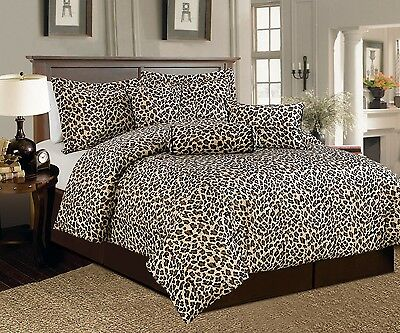 $ CDN100.01 • Buy 7 PCS Leopard Print Comforter Set Micro Fur Twin, Full, Queen, Cal King