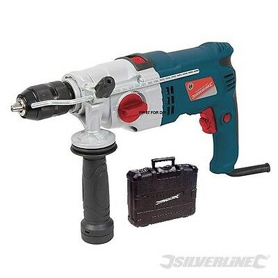 View Details Heavy Duty Silverline Electric 1050w Impact Hammer Drill Driver Screwdriver • 54.95£