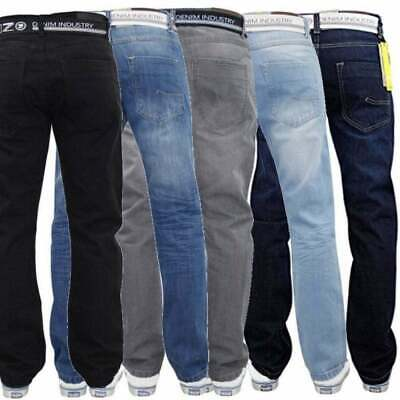 Enzo Mens New EZ 324 Designer Relaxed Fit Denim Jeans Stonewashed Rinse BNWT • 17.99£