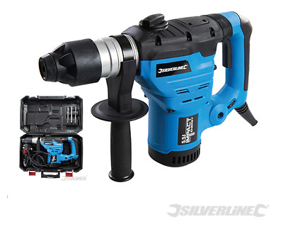 Heavy Duty Silverline 1500w Sds Rotary Impact 230v Hammer Drill 3 Function 26881 • 79.99£