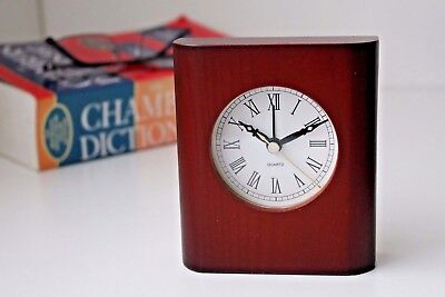 £7.90 • Buy Classical Wooden Desk Table Clock Home Decoration Business Gift Idea Alarm Clock