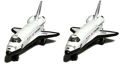 2 X Space Shuttle NASA Replica Diecast Toy Model Pull Back And Go Action 5  Long • 8.60£