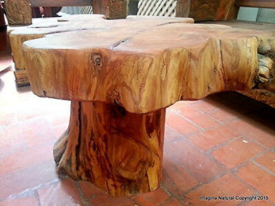 £1418.28 • Buy Naturally Unique Cypress Tree Trunk Handmade Coffee Table - Rustic Chilean Log T