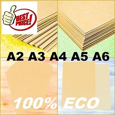 £0.99 • Buy A2 A3 A4 A5 A6 BROWN KRAFT CARD STOCK BLANK CRAFT RECYCLED LOT PAPER 100- 300gsm