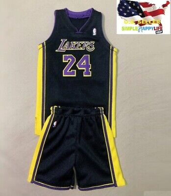 $29.99 • Buy 1/6 Scale Kobe Lakers Black Jersey #24 For Hot Toys Phicen Enterbay Body ❶USA❶