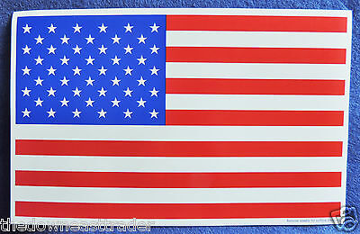Red White & Blue USA American Flag Car Refrigerator Vinyl Magnet 8  X 5  New • 2.97£