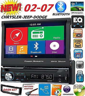 $279.99 • Buy 02 03 04 05 06 07 Chrysler Jeep Dodge 7  Navigation Cd Dvd Bluetooth Car Stereo