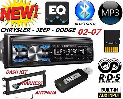 $99.99 • Buy 02 03 04 05 06 07 Chrysler Jeep Dodge Bluetooth Usb Sd Aux Car Radio Stereo