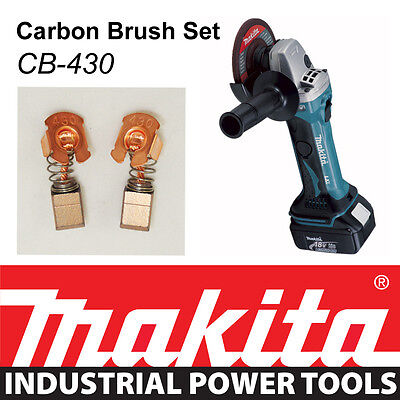Makita 18V LXT Angle Grinder DGA452 BGA452 BGA452Z Genuine CARBON BRUSH SET  • 7.99£