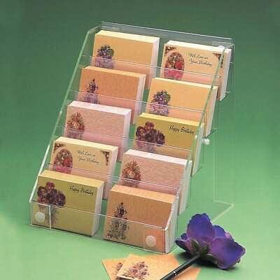 £29.88 • Buy Acrylic Florist Card Display Stand Retail/Shop/Gift Counter/Wall