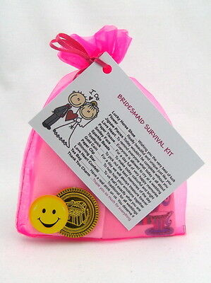 Bridesmaid Chief Matron Of Honour Survival Kit Favour Present Gift Card Keepsake • 3.25£