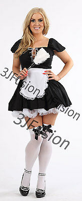 £15 • Buy Women Sexy French Maid Adult Uniform Fancy Dress Costume Outfit FREE POST (CL)